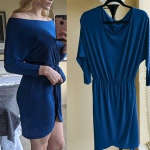 Long Sleeve Blue Mini Dress